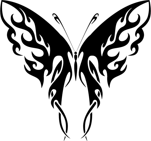 Tribal Butterfly Cliparts.
