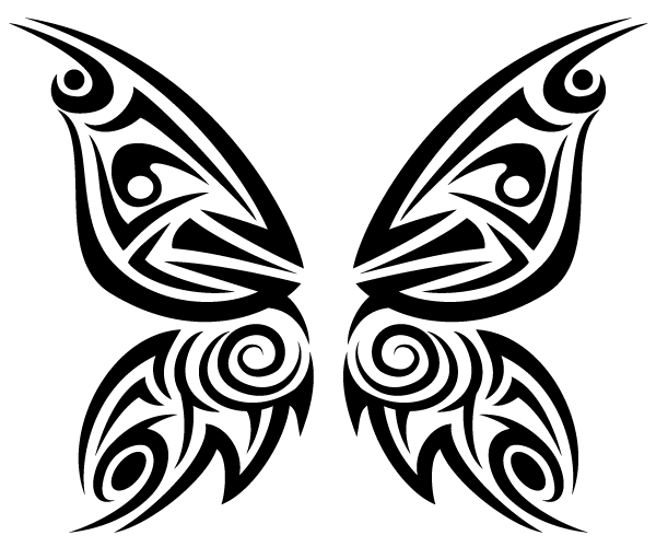 Free Tribal Butterfly Vector.