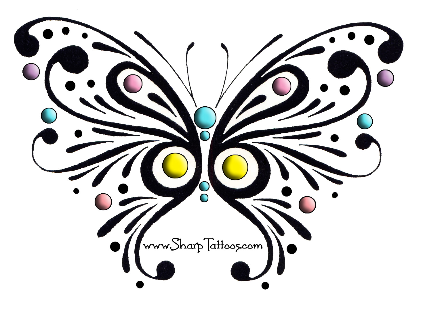 Free Tribal Butterfly, Download Free Clip Art, Free Clip Art.