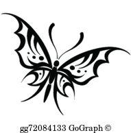 Tribal Butterfly Clip Art.