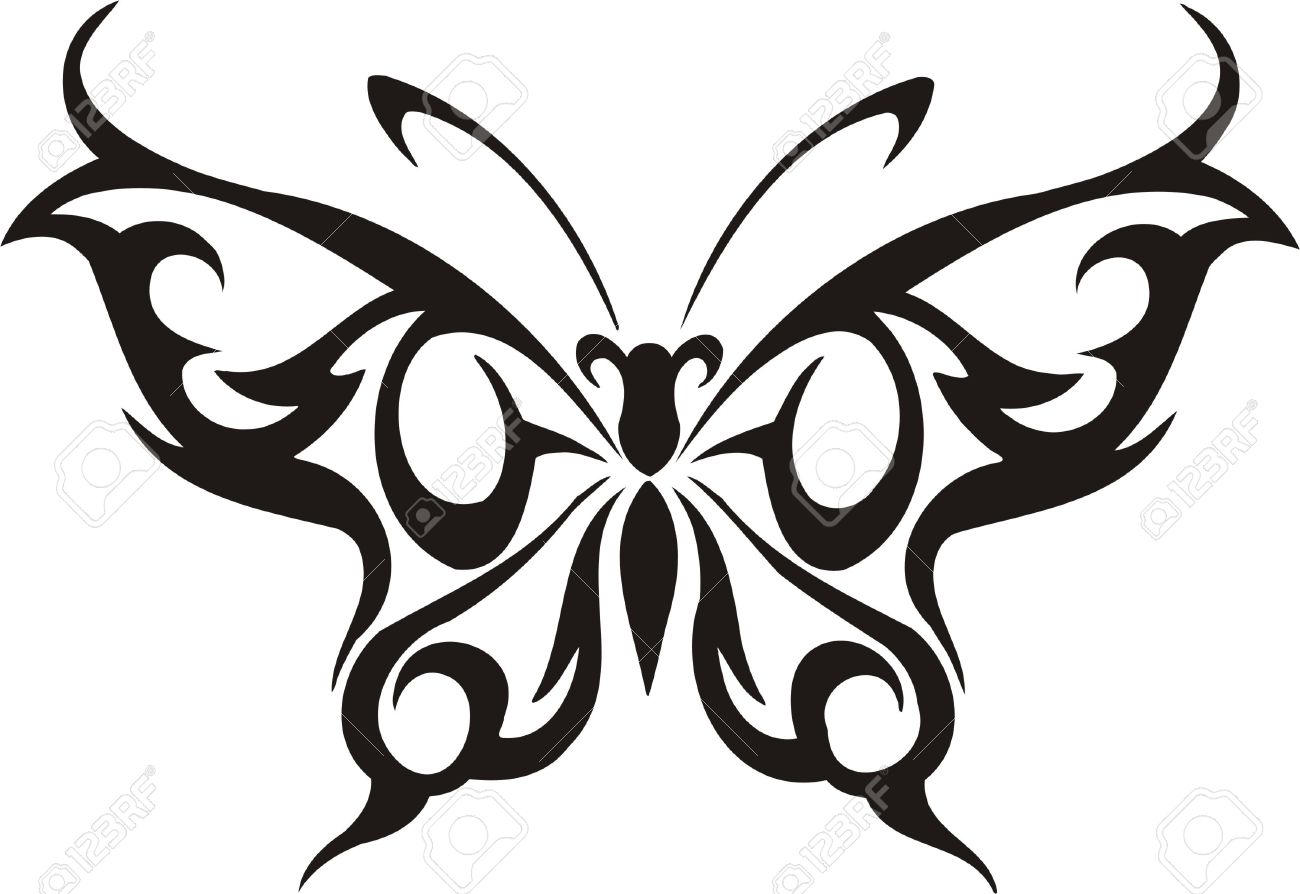 Tribal Butterfly Cliparts 7.