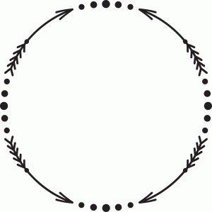 Tribal Arrow Circle Clipart.