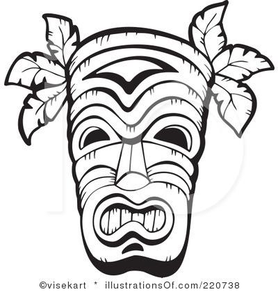 Hawaiian Tribal Clip Art Black And White.