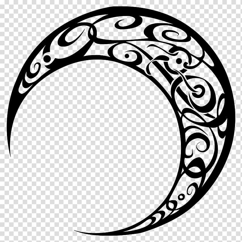 Moon Art Tribe Drawing , tribal tattoo transparent.