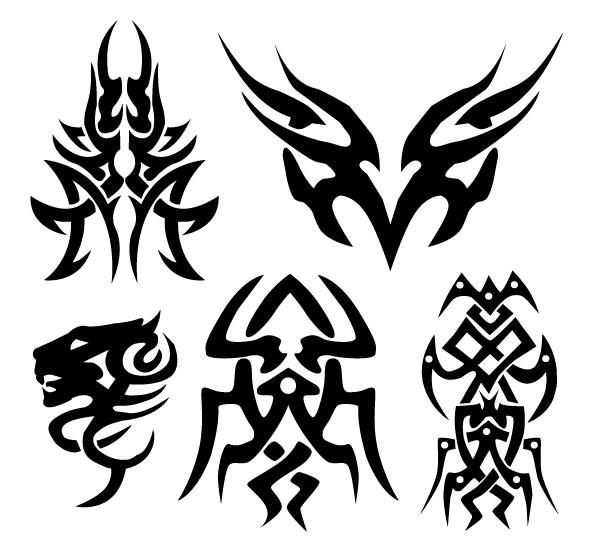 200+ Free Vectors: Tribal Graphics & Tattoo Designs.