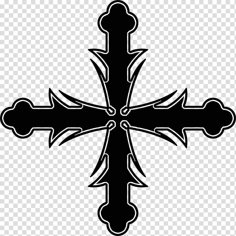 Gothic cross, cross transparent background PNG clipart.