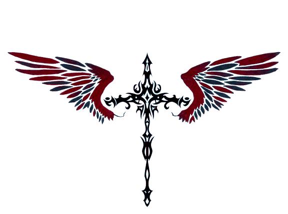 48+] Cross with Wings Wallpaper on WallpaperSafari.