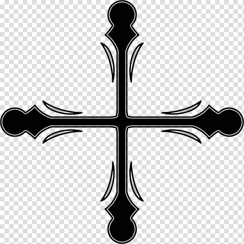 Gothic patterns, black tribal cross pattern transparent.