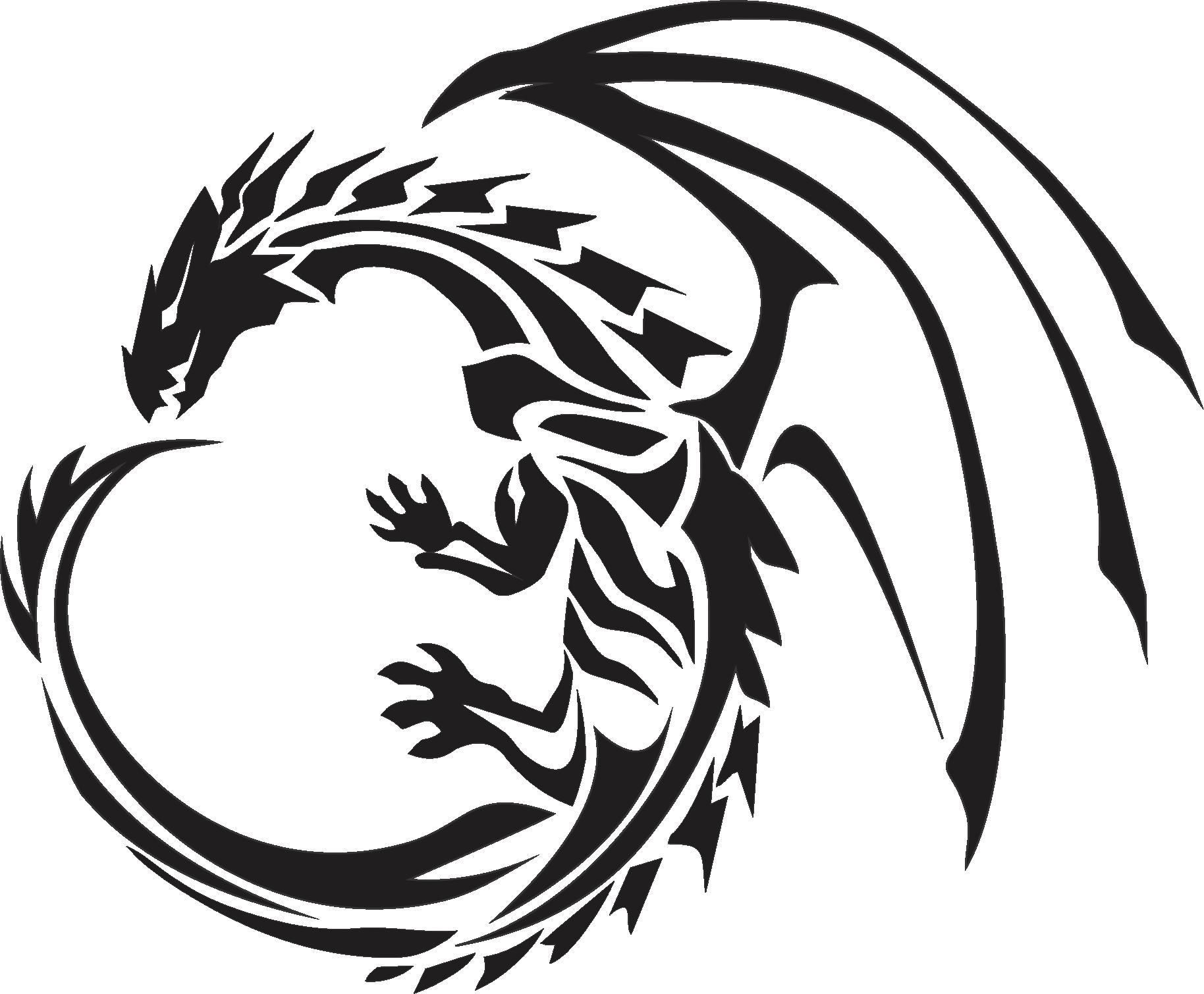Tribal Dragon Tattoo Three.