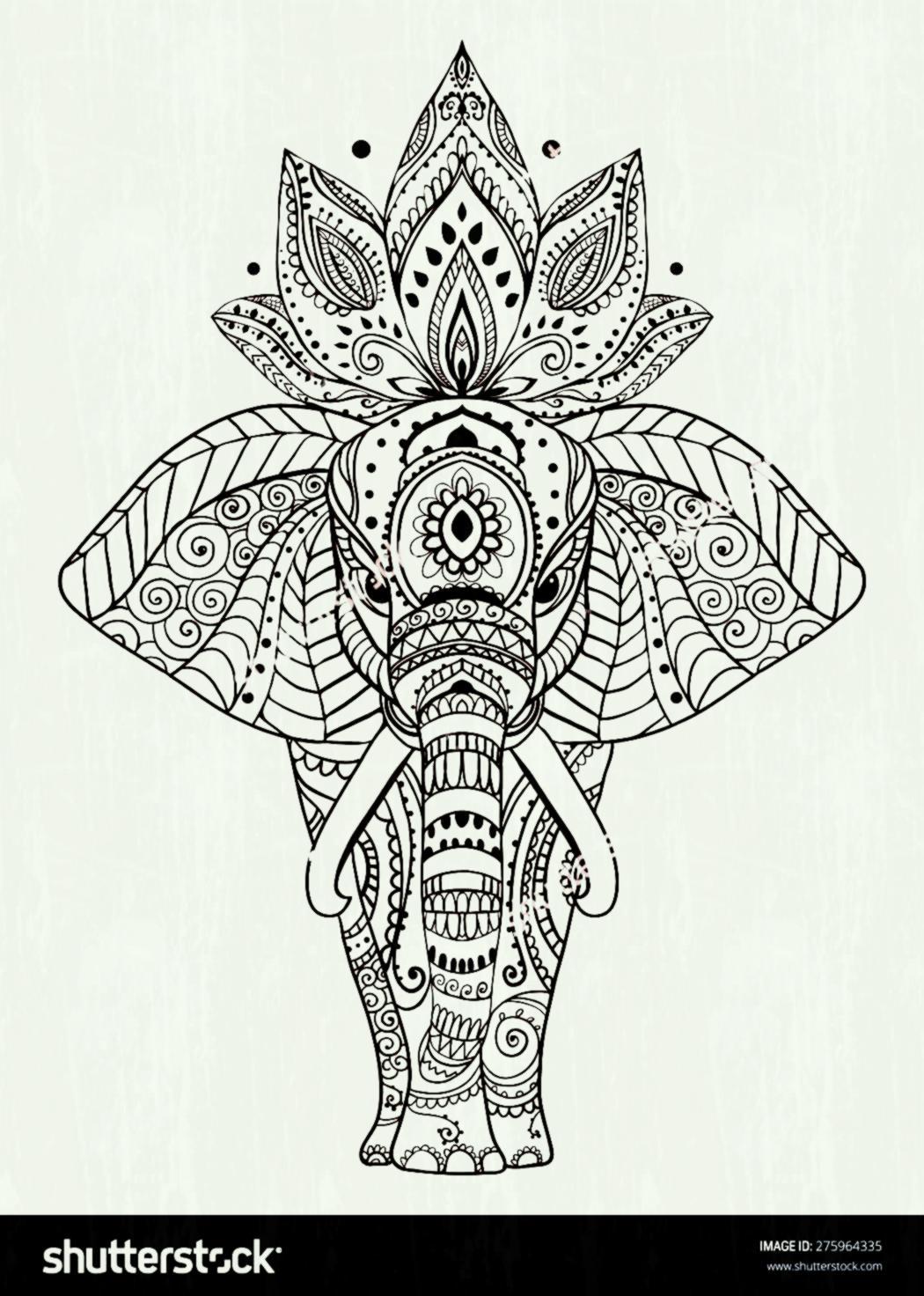 Aztec Elephant Clipart.