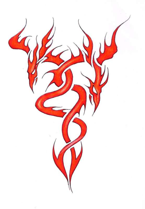 Tribal flame clipart.