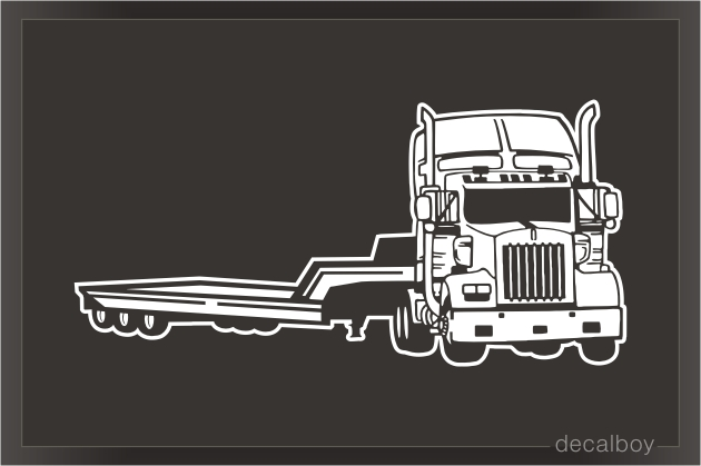 Heavy Duty Flatbed Truck Decal.