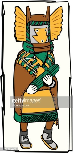 Tribal Man Clipart Image.