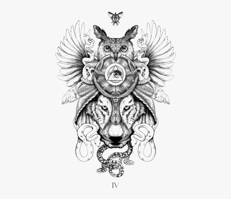 Tattoo Tribe Symbol Totem Tiger Animal Clipart.