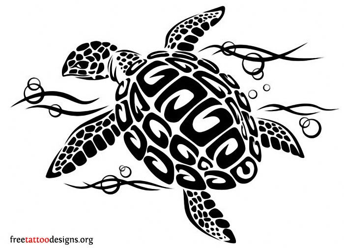 tribal turtle clipart black and white 20 free Cliparts ...