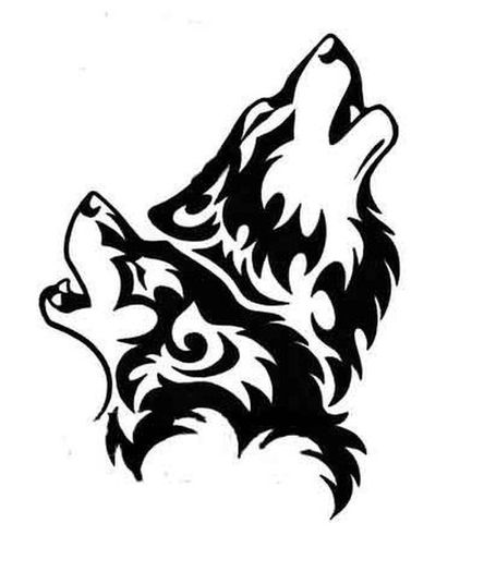Wolf howling tribal wolves howling clipart.