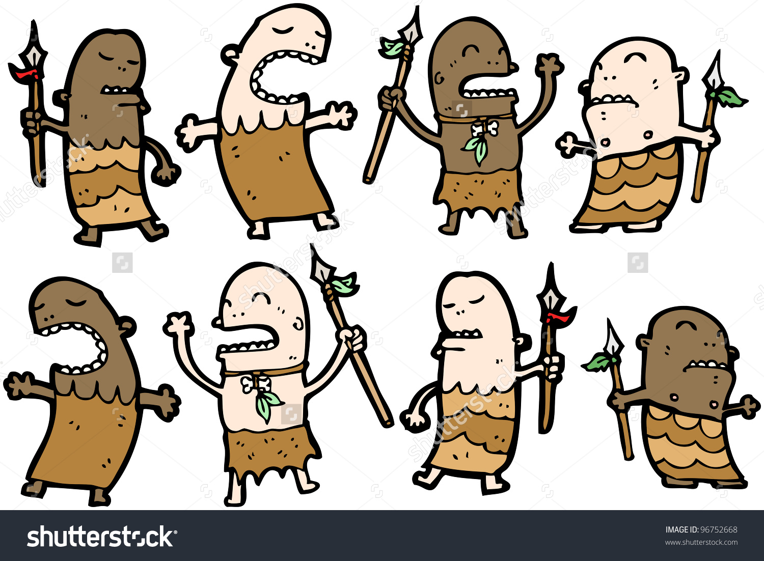 Cartoon Tribesmen Stock Photo 96752668 : Shutterstock.