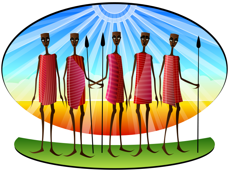 African tribe clipart.