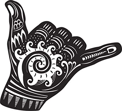 Amazon.com: Pretty Black and White Shaka Tribal Pattern Hand.