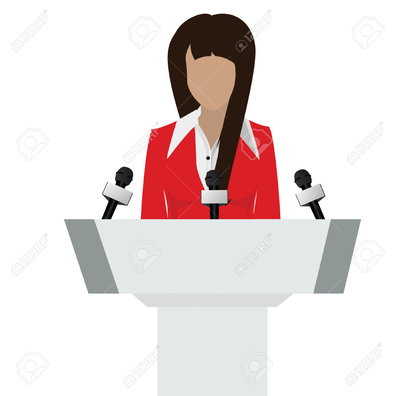 Person speaker clipart.