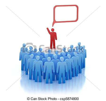 Stock Illustration of Orator on tribune.