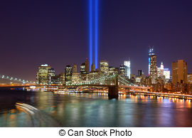 Picture of Tribute in Light over Lower Manhattan, New York City.