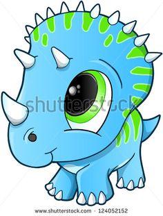 Cute dinosaur cartoon.