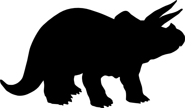 Triceratops Clipart Black And White.