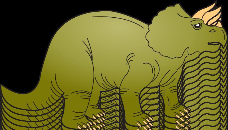 Triceratops Dinosaur Clipart.