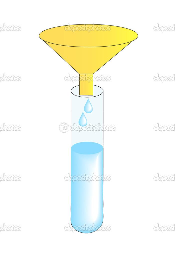 Reagenzglas und Trichter — Stockvektor © willeecole #51809111.