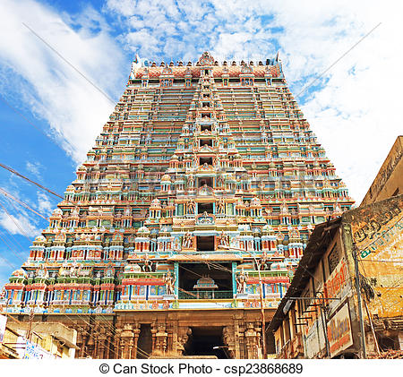 Pictures of Sri Ranganathaswamy Temple or Thiruvarangam Tamil.
