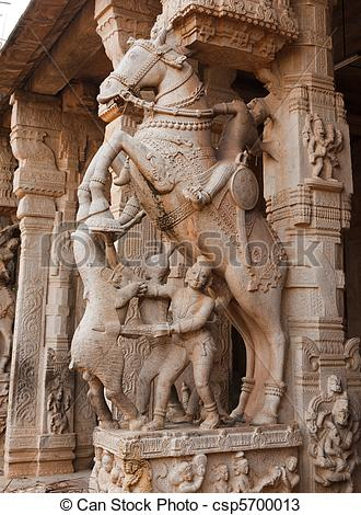 Stock Photos of Statues in Hindu temple. Sri Ranganathaswamy.