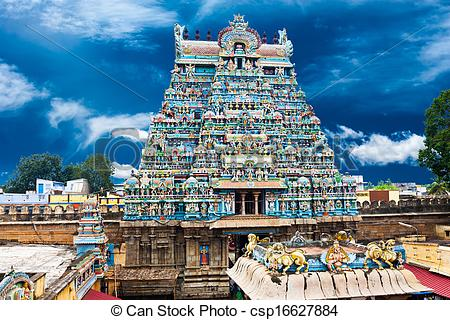 Pictures of Great South Indian architecture. Sri Ranganathaswamy.