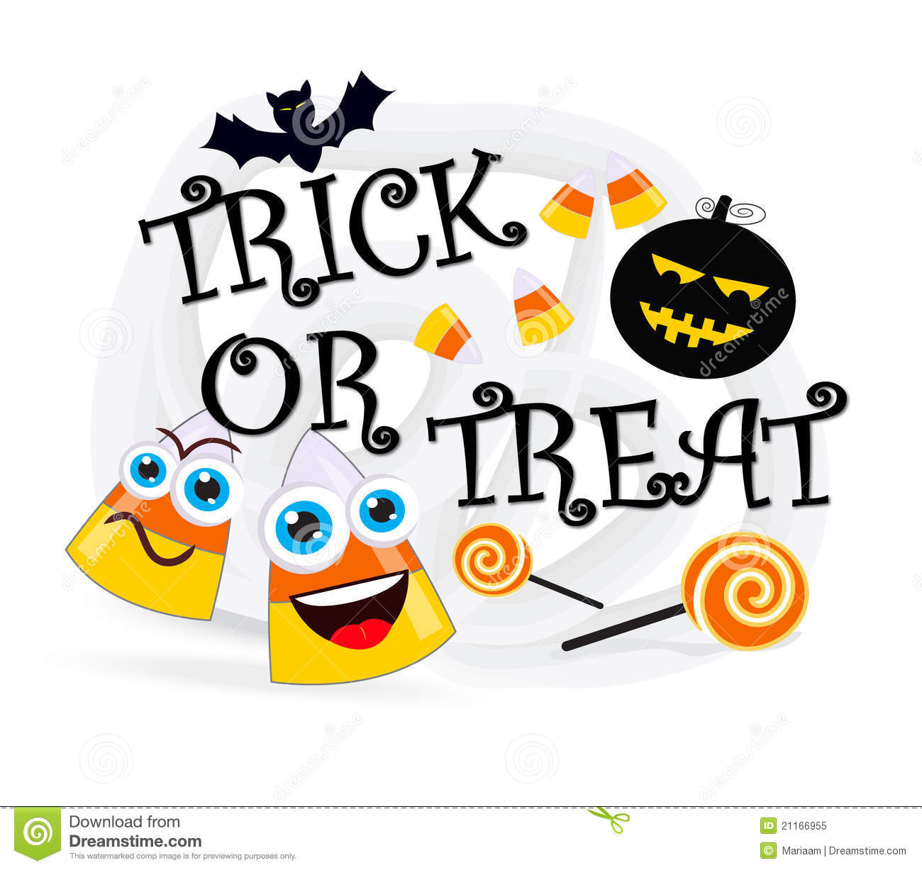 Trick or treat clipart free.