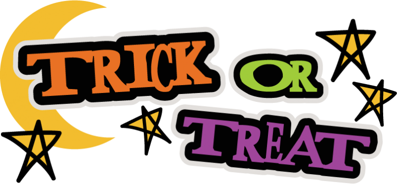 No Trick Or Treat Clipart.