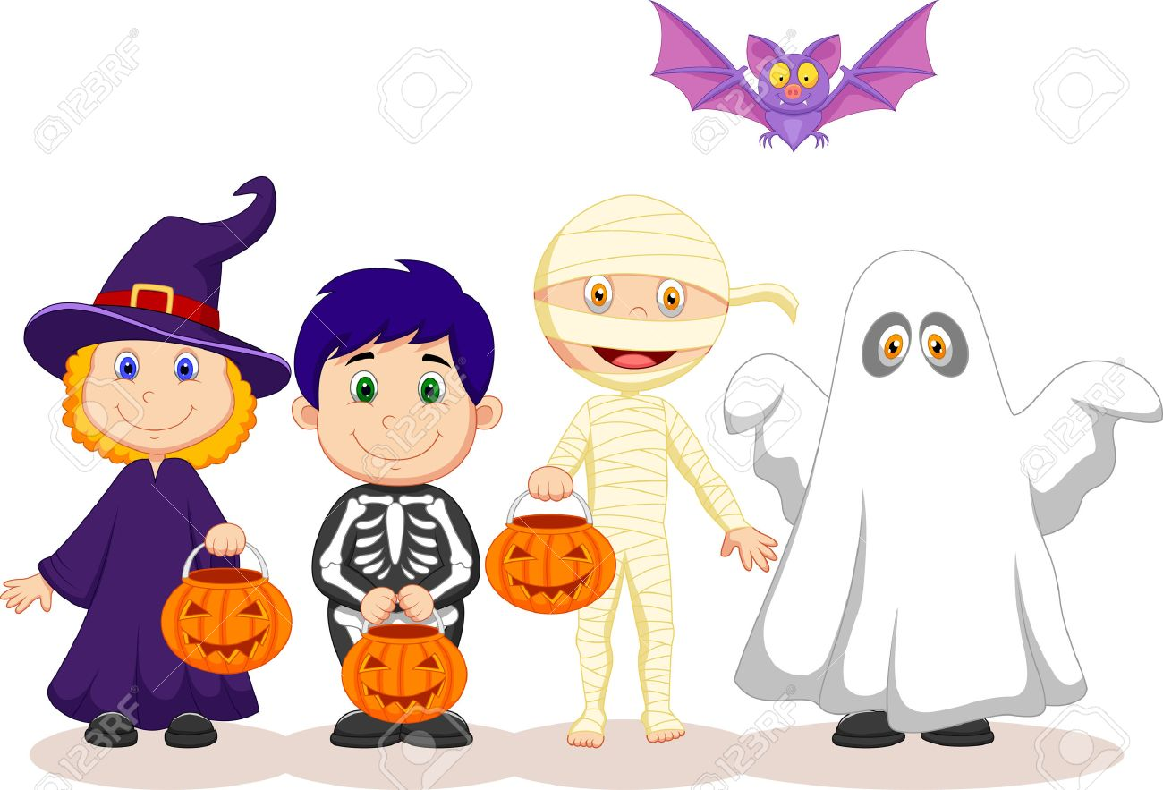 Kids Trick Or Treat Clipart.