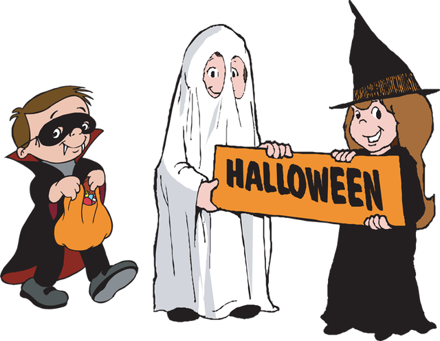 Costume clipart trick or treater, Costume trick or treater.