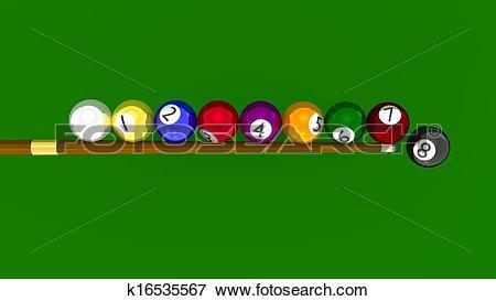 Stock Illustration of Eight Ball Pool.