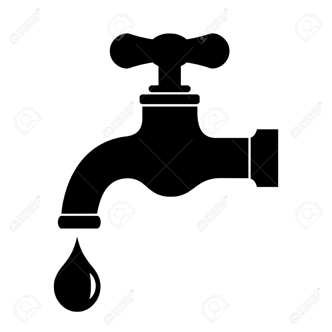 Water Tap Icon Royalty Free Cliparts, Vectors, And Stock.