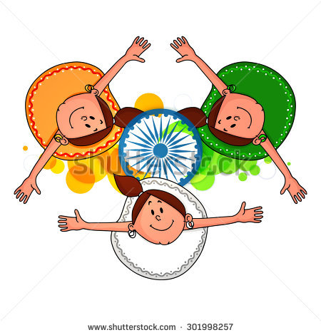India Tricolor Stock Images, Royalty.
