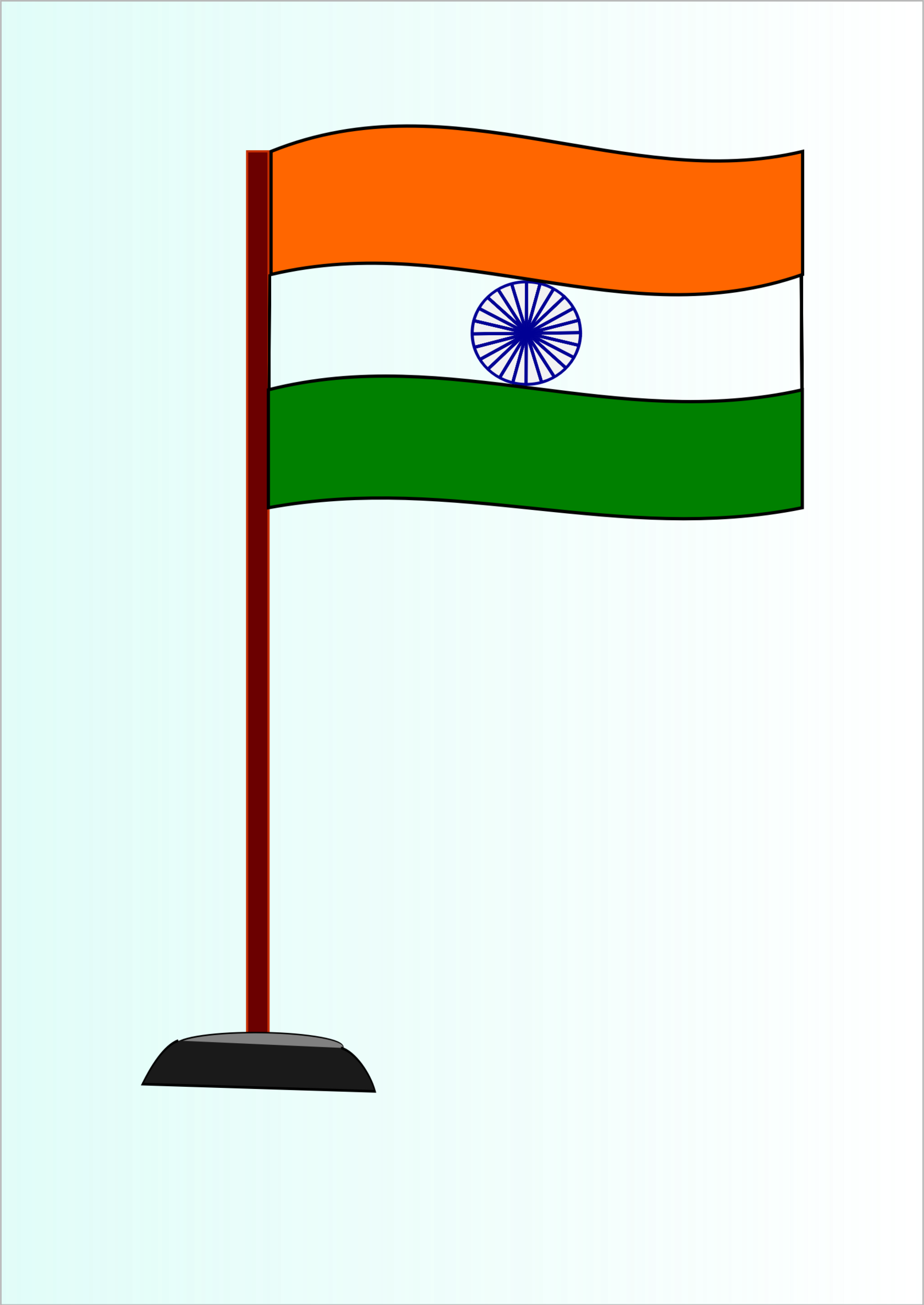 Indian National Flag By Saurabhgup889 The Is A Horizontal.
