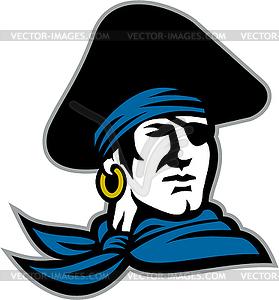 Pirate Tricorn Hat Neckerchief Retro.