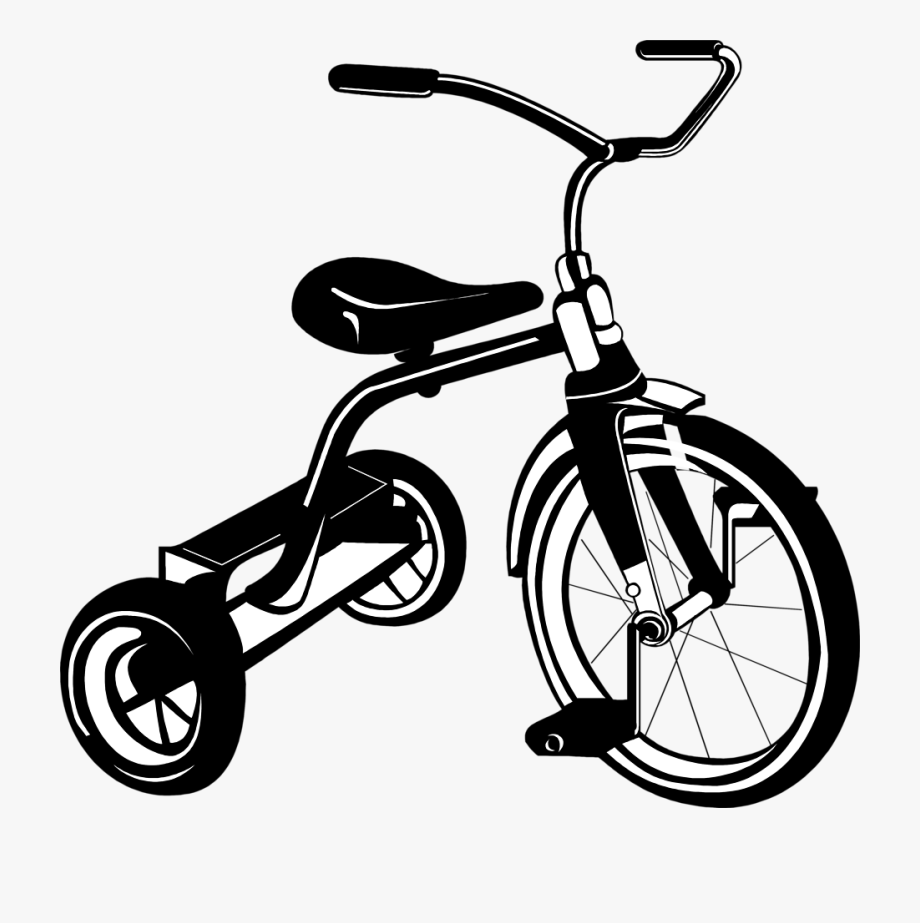 Tricycle Clipart Black And White, Cliparts & Cartoons.