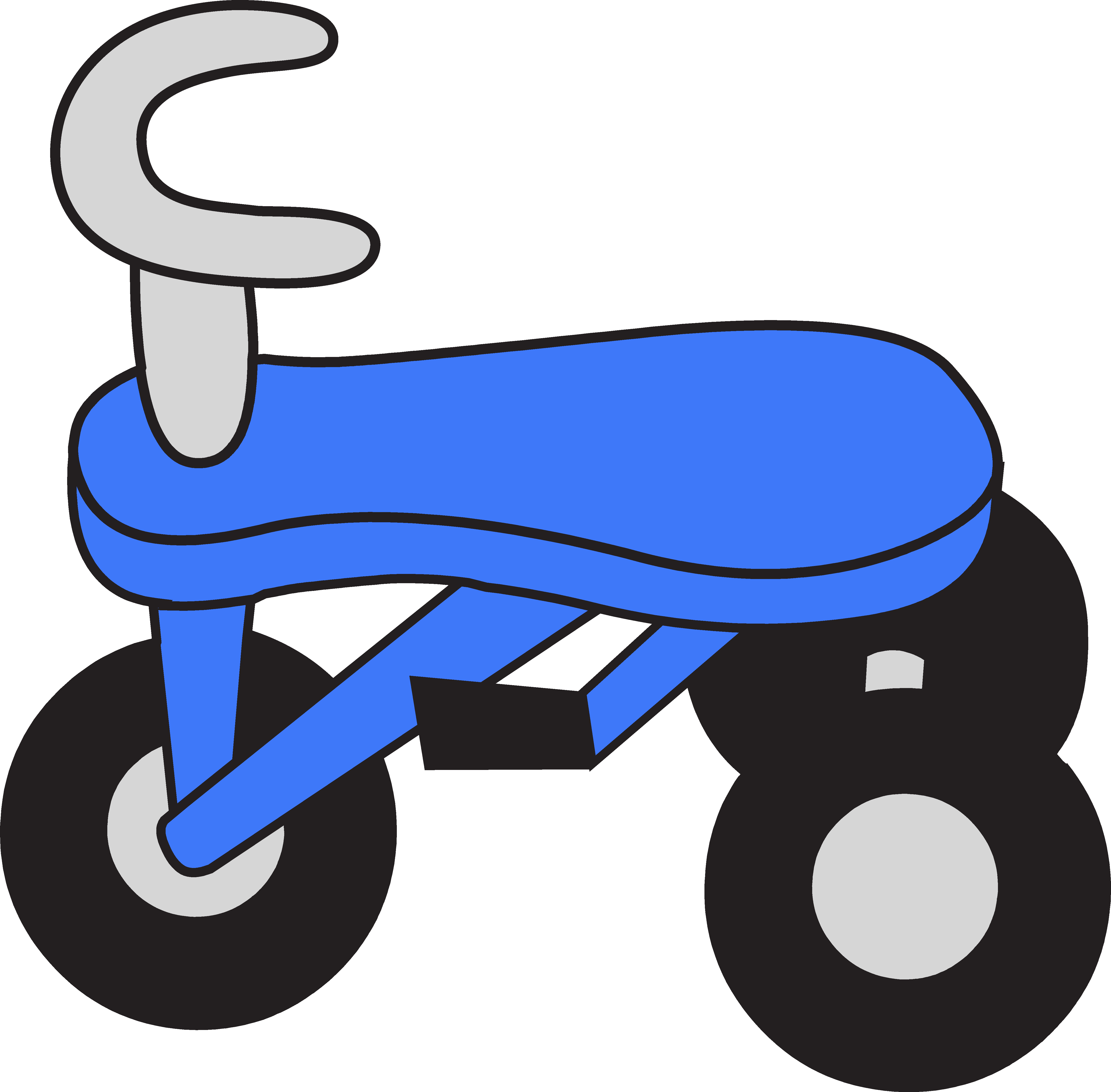 Little Blue Tricycle Clipart.