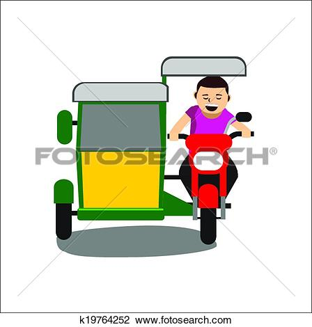 Clipart of Tricycle vector k19764252.