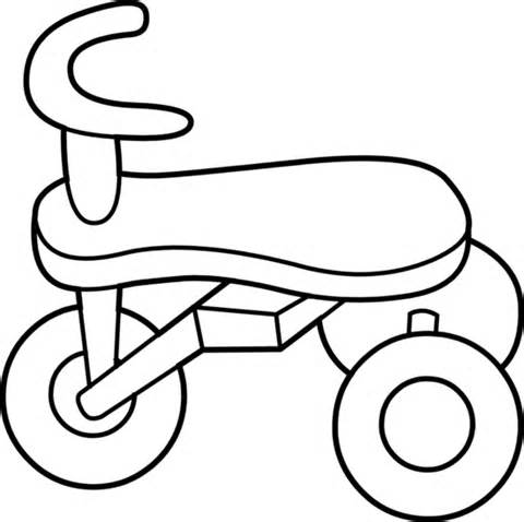 Tricycle Black And White Clipart.