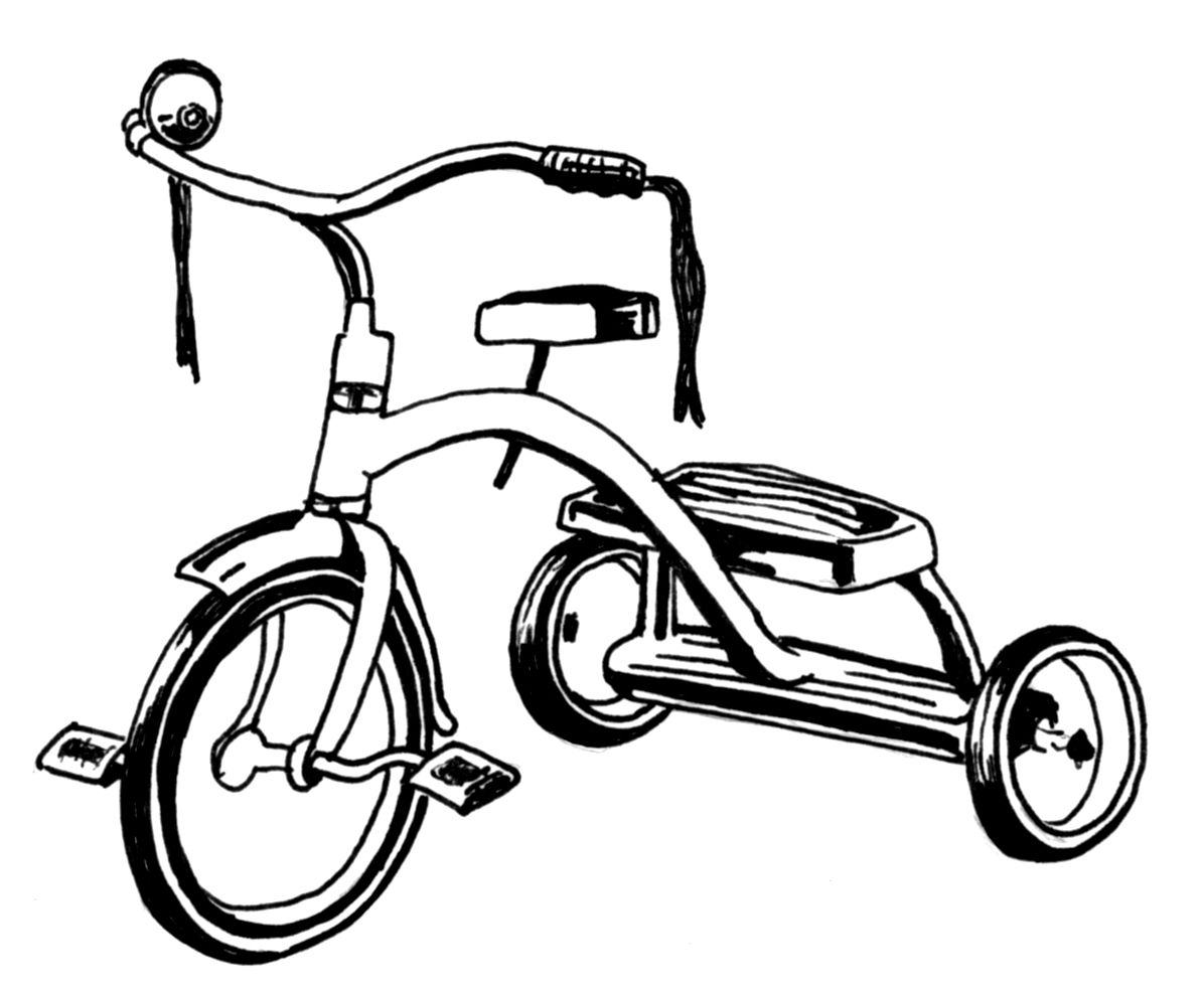 Free Tricycle Clipart Black And White, Download Free Clip.