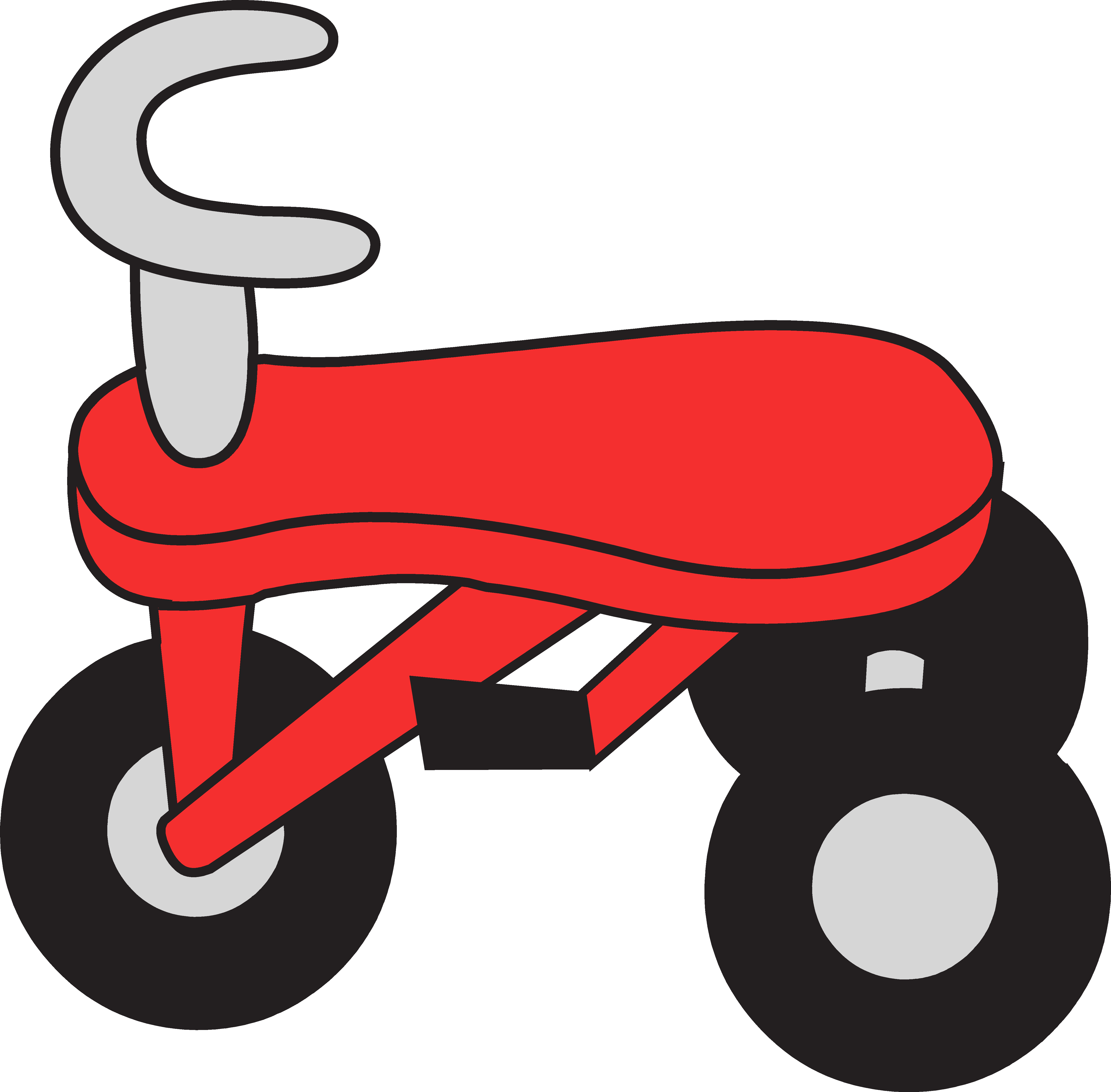 Little Red Tricycle Clipart.