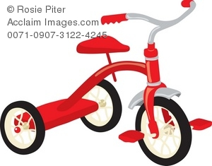 Clip Art Illustration Of A Little Tricycle.