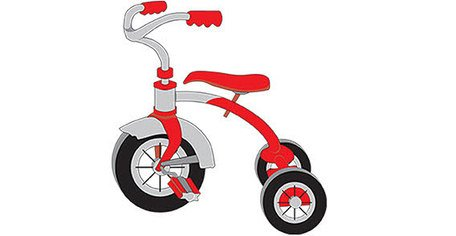 Tricycle Clip Art, Vector Tricycle.